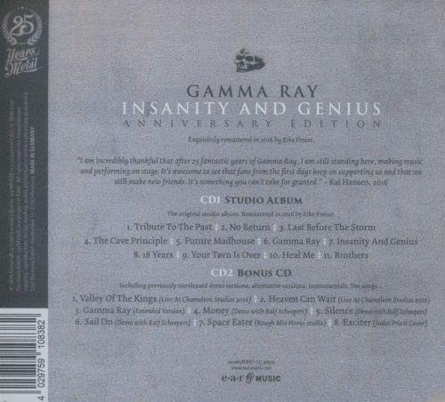 Gamma Ray - Insanity And Genius (Ann. Ed. rem. 2CD) - CD - New