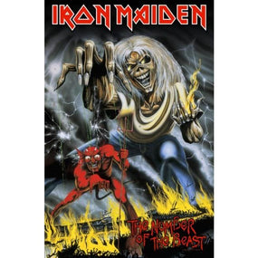 Iron Maiden - Premium Textile Poster Flag (Number Of The Beast)