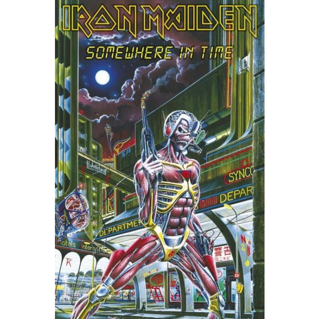 Iron Maiden - Premium Textile Poster Flag (Somewhere In Time)