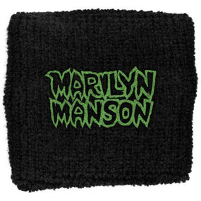 Manson, Marilyn - Sweat Towelling Embroided Wristband (Logo)