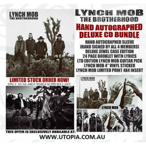 Lynch Mob - Brotherhood, The (Autographed Deluxe Ed. w. sticker, guitar pick, ltd. print insert) - CD - New