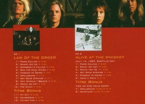 Shark Island - Law Of The Order/Alive At The Whiskey (2004 2CD reissue w. 5 bonus tracks) - CD - New