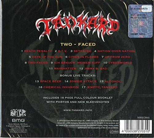 Tankard - Two-Faced (Deluxe Ed. incl. 16 Pge Booklet) - CD - New