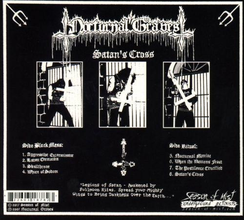 Nocturnal Graves - Satans Cross (2018 reissue w. 5 bonus demo tracks) - CD - New