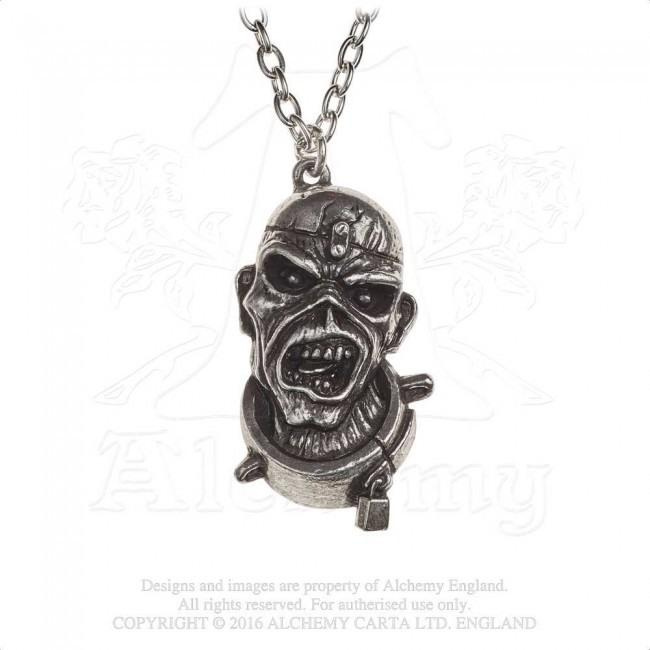 Iron Maiden - Pewter Pendant and Chain - Piece Of Mind Eddie (46mm x 25mm)