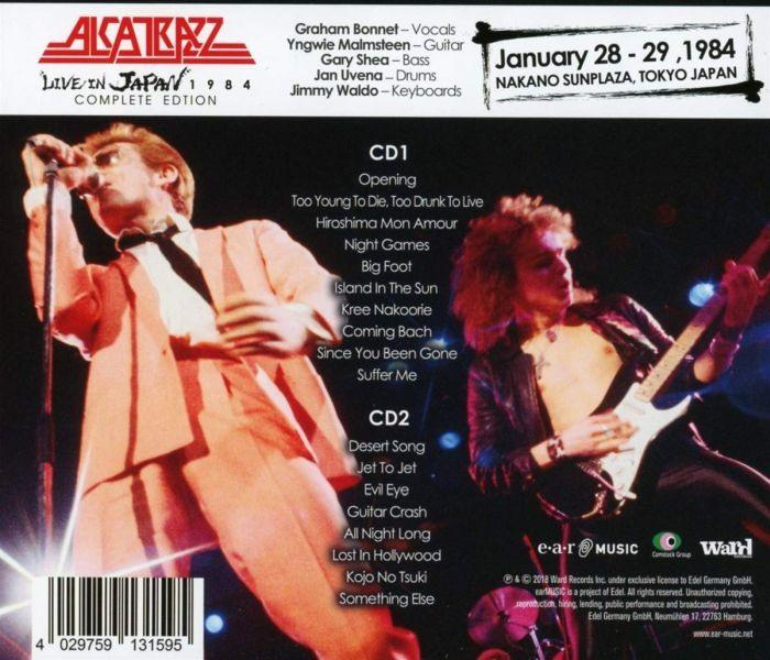 Alcatrazz - Live In Japan 1984 (Complete Ed. 2CD) - CD - New