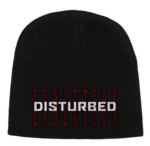 Disturbed - Knit Beanie - Embroidered - Red Evolution