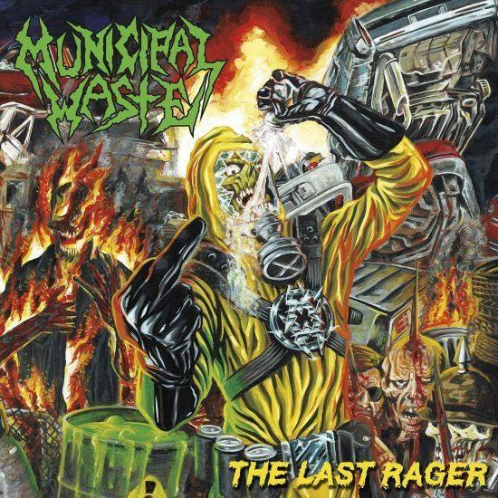 Municipal Waste - Last Rager, The (Ltd. Ed. Yellow/Blue Splatter 12 Inch EP - 1000 copies) - Vinyl - New