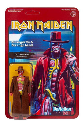 Iron Maiden - Outlaw Eddie (STRANGER IN A STRANGE LAND) 3.75 inch Super7 ReAction Figure