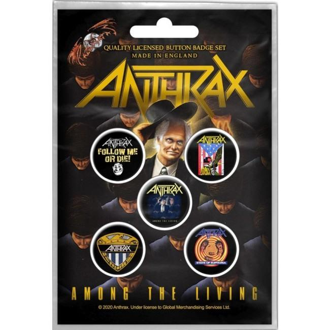 Anthrax - 5 x 2.5cm Button Set - Among The Living