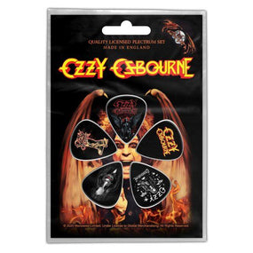 Osbourne, Ozzy - 5 x Guitar Picks Plectrum Pack (Classic Logo)