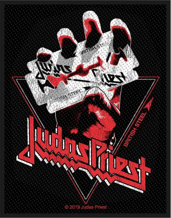 Judas Priest - British Steel Vintage Style Woven Sew-On Patch