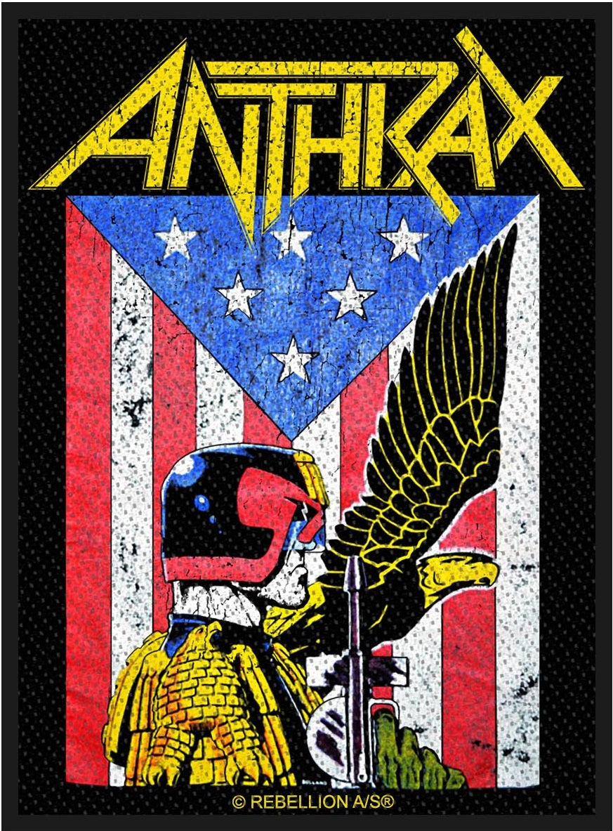 Anthrax - Judge Dread Woven Sew-On Patch
