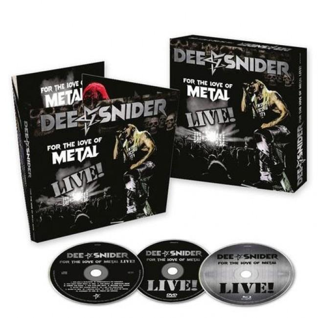 Snider, Dee - For The  Love Of Metal - Live! (Ltd. Ed. CD/DVD/Blu-Ray) - CD - New