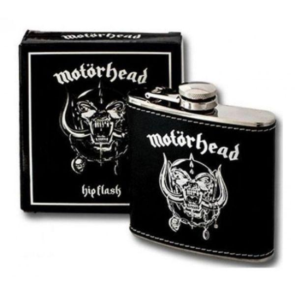 Motorhead - Hip Flask 100mm x 100mm (Snaggletooth Warpig)