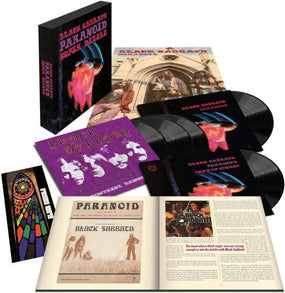 Black Sabbath - Paranoid (50th Ann. Super Deluxe Edition 5LP incl. Original + Quad Mix + 2 x1970 Live Shows + HC Book + Poster + Paranoid Tour Programme) - Vinyl - New