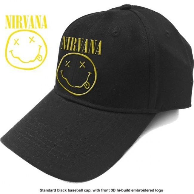 Nirvana - Cap (Logo and Smiley)