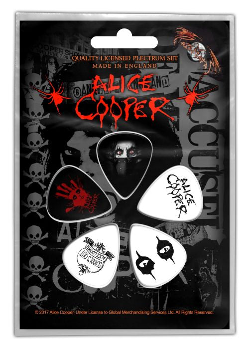 Cooper, Alice - 5 x Guitar Picks Plectrum Pack (Eyes)