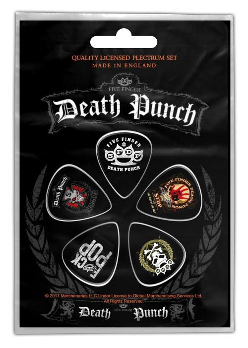 Five Finger Death Punch - 5 x Guitar Picks Plectrum Pack (5FDP)