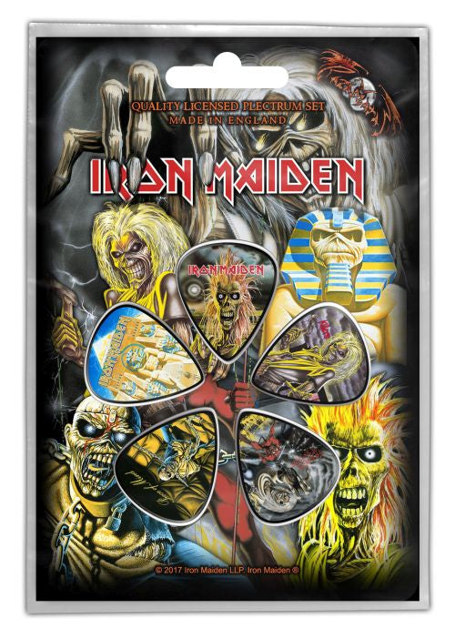 Iron Maiden - 5 x Guitar Picks Plectrum Pack (Early Albums)