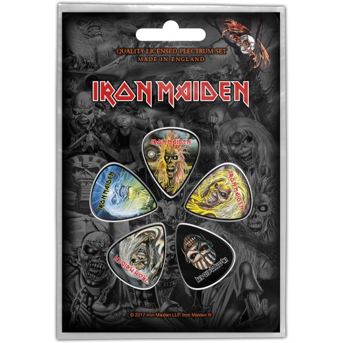 Iron Maiden - 5 x Guitar Picks Plectrum Pack (Faces Of Eddie)