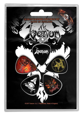 Venom - 5 x Guitar Picks Plectrum Pack (Black Metal)