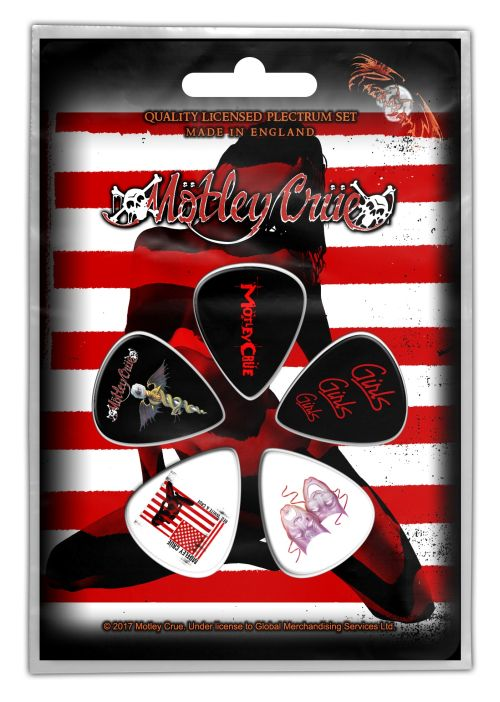 Motley Crue - 5 x Guitar Picks Plectrum Pack (Red, White And Crue)