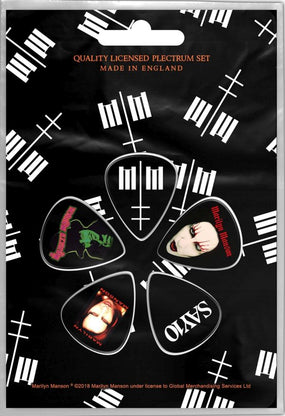 Manson, Marilyn - 5 x Guitar Picks Plectrum Pack (MM)