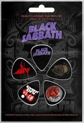 Black Sabbath - 5 x Guitar Picks Plectrum Pack (Logo, US Tour, Daemon, 13)