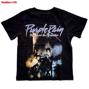 Prince - Purple Rain Toddler and Youth Black Shirt