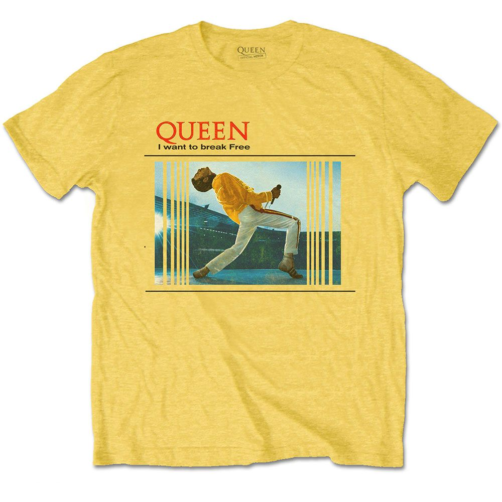 Queen - Freddie I Want To Break Free Yellow Shirt