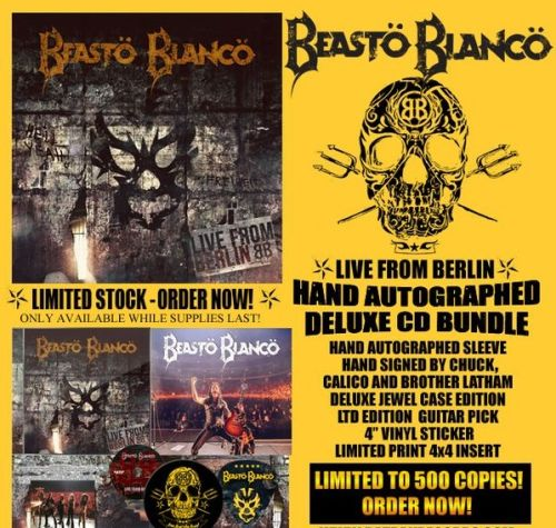 Beasto Blanco - Live From Berlin (Deluxe Autographed with sticker and Guitar Pick) - CD - New