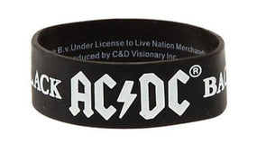 ACDC - Rubber Wristband (Back In Black)