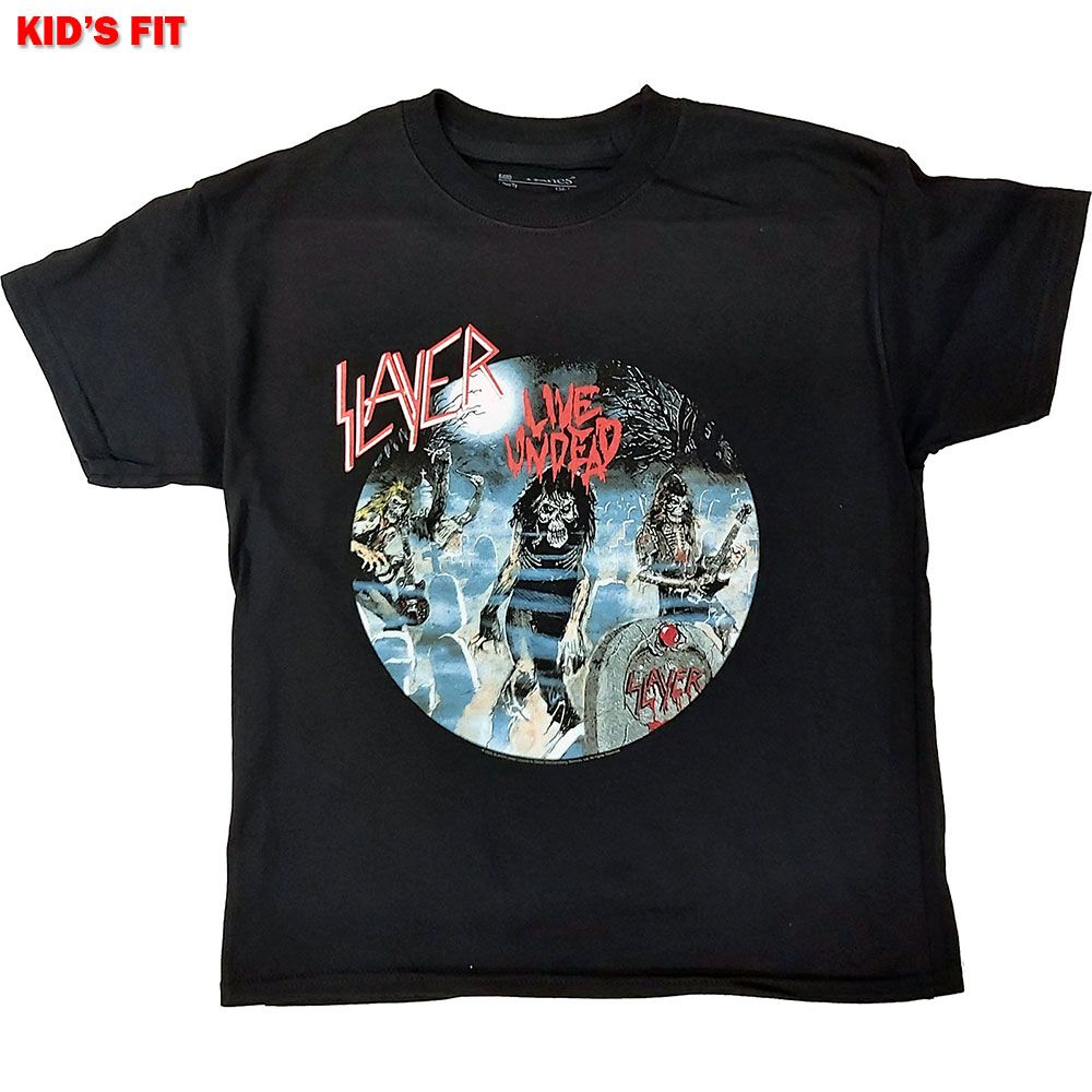 Slayer - Live Undead Toddler and Youth Black Shirt