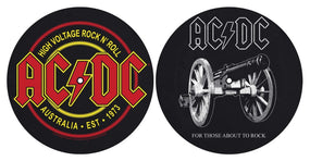 ACDC - Turntable Slipmat Pair (For Those About To Rock/High Voltage)