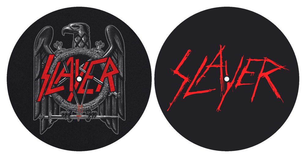 Slayer - Turntable Slipmat Pair (Eagle/Scratched Logo)