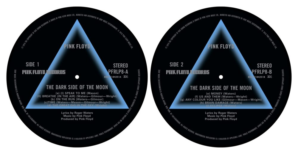 Pink Floyd - Turntable Slipmat Pair (Dark Side Of The Moon)