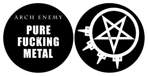 Arch Enemy - Turntable Slipmat Pair (Pure Fucking Metal)