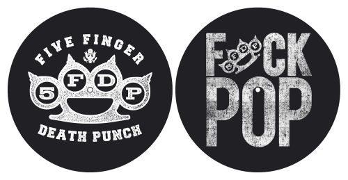 Five Finger Death Punch - Turntable Slipmat Pair (Fuck Pop/Knuckles)