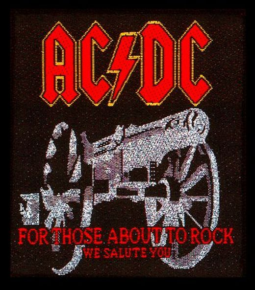 ACDC - For Those About To Rock Sew-On Patch