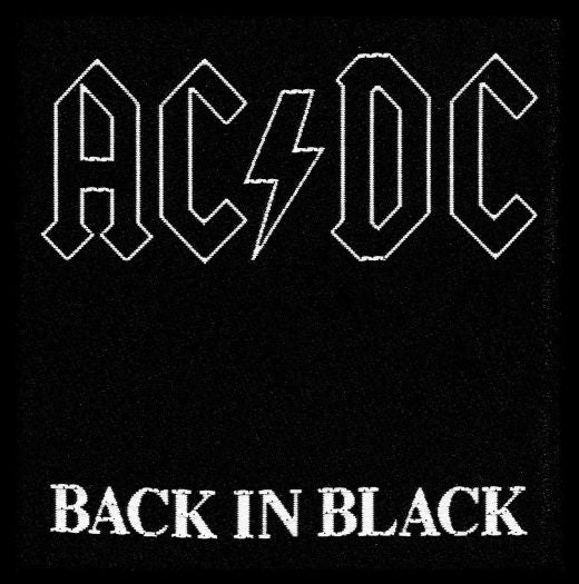 ACDC - Back in Black Sew-On Patch