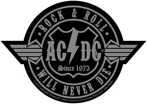 ACDC - Rock N Roll Will Never Die Sew-On Patch