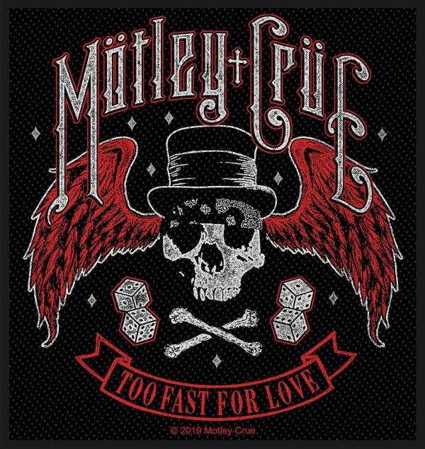 Motley Crue - Too Fast For Love Sew-On Patch