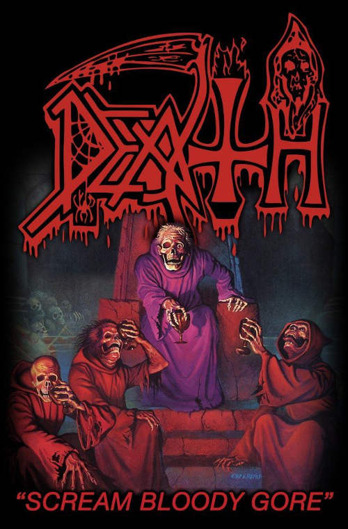 Death - Premium Textile Poster Flag (Scream Bloody Gore)