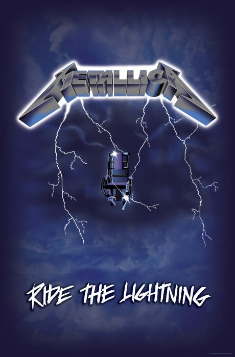 Metallica - Premium Textile Poster Flag (Ride The Lightning)