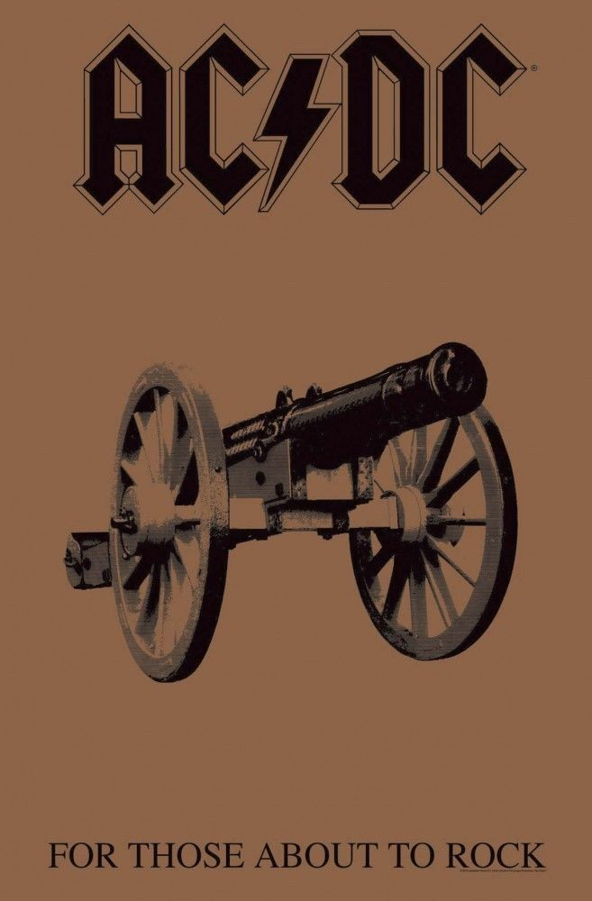 ACDC - Premium Textile Poster Flag (For Those About To Rock)