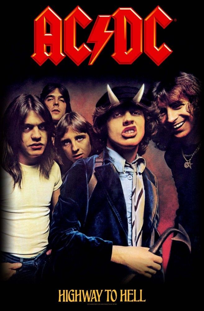 ACDC - Premium Textile Poster Flag (Highway To Hell)