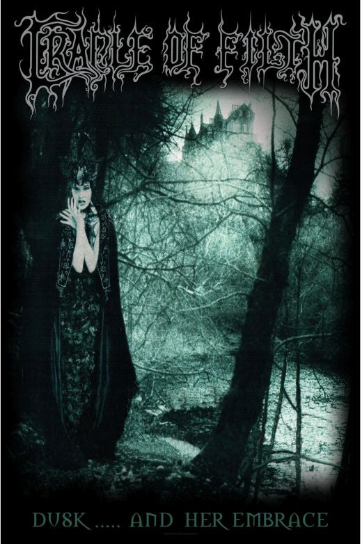 Cradle Of Filth - Premium Textile Poster Flag (Dusk And Her Embrace)