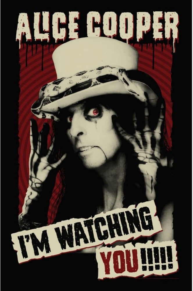 Cooper, Alice - Premium Textile Poster Flag (Im Watching You)