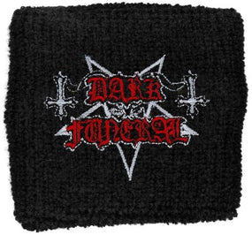 Dark Funeral - Sweat Towelling Embroided Wristband (Logo)